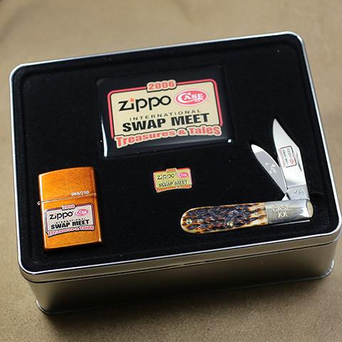2006年製Zippo Zippo/ナイフ記念セット 2006(USA) SWAP MEET