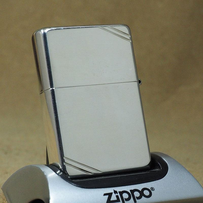 2005年製 未使用 Zippo ビンテージ/ダイアゴナルライン スターリングシーバー No.14