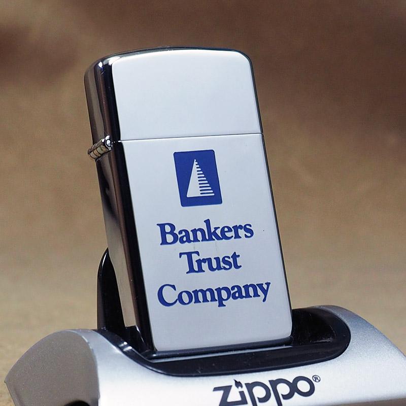 1979年製 未使用品 ビンテージ Zippo スリム ジッポー ライター 箱付 デットストック US銀行(NY) バンカーズトラスト