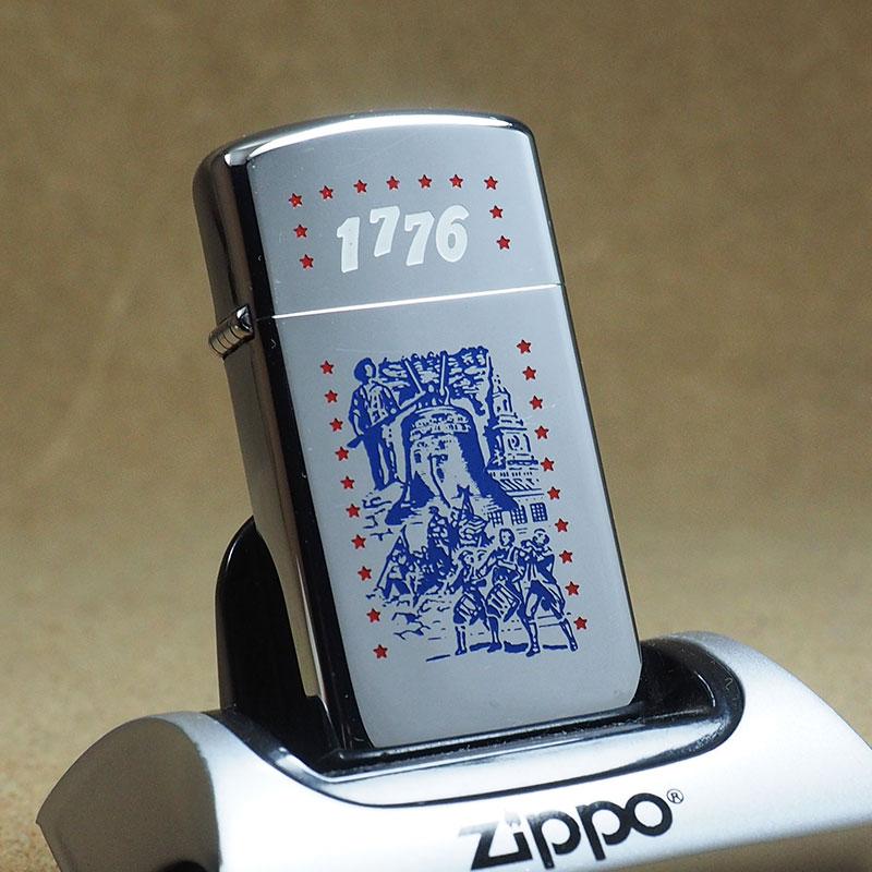 デットストック 1776 United States Independence Day with product made in 1975-free  article vintage slim Zippo Zippo writer box