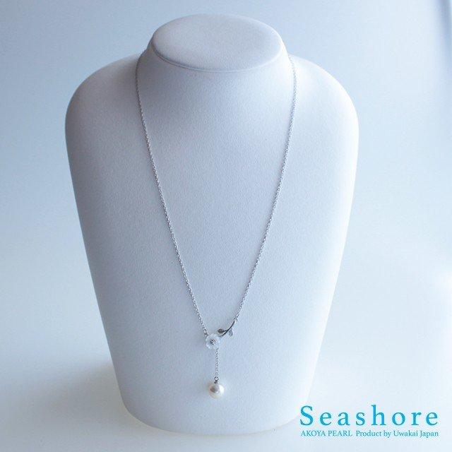 日本一真珠が採れる海 宇和海のパールネックレス あこやパールネックレス モデル着用 注目アイテム 開店記念セール Yタイプフラワー ピンクホワイト9.0mm 6月の誕生石 ホワイトデー プレゼント 記念日 送料無料 女性 誕生日