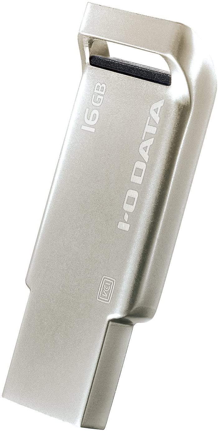 I-O DATA 人気上昇中 USBメモリー 送料無料激安祭 16GB USB 3.0 U3-AS16G アルミボディ シルバー 対応 S