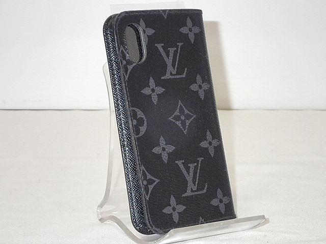 ★【送料無料】LOUIS VUITTON ルイヴィトン モノグラムエクリプス iPhone X&XS・フォリオ アイフォン10・(10Sにも対応)/アイフォンケース M63446 当店では以前19,800【中古】あす楽対応 メンズ