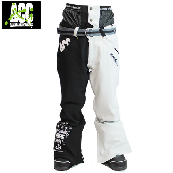 17-18 ACC パンツ ARTIST PANTS: Blk Stone White 正規品/スノーボードウエア/ウェア/メンズ/snow