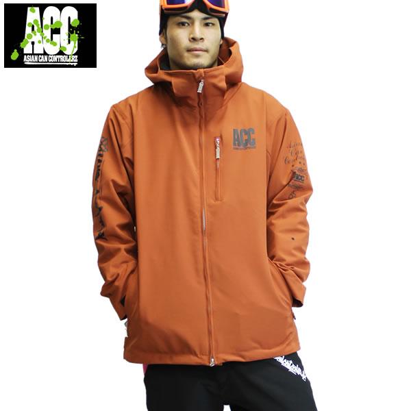 「期間限定!全品2倍 8/1/23:59迄!」17-18 ACC ジャケット ARTIST JKT (ルーズfit) : D.Orange 正規品/スノーボードウエア/ウェア/メンズ/snow