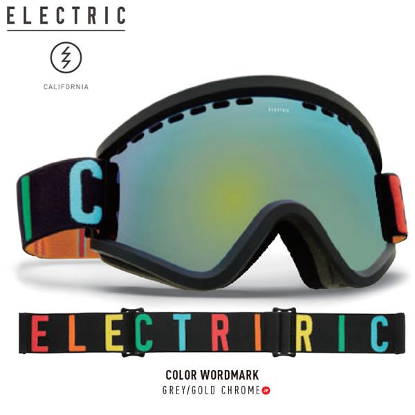17-18 ELECTRIC ゴーグル EGV COLOR W.MARK eg6317103: Grey/Gold Chrome 正規品/エレクトリック/ボルコム/スノーボード/スキー/snow/スノボ