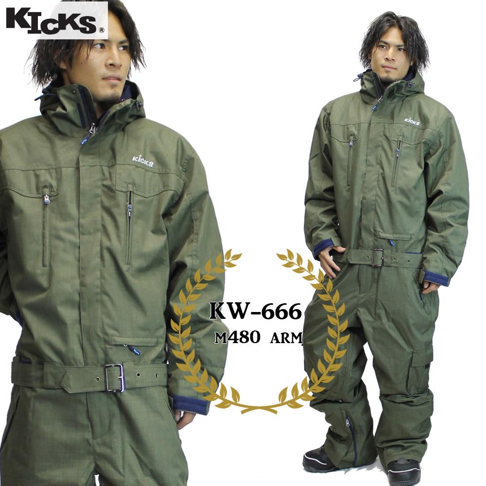 19-20 KICKS ツナギ kw-666 : M480 ARM 日本国内正規品/スノーボードウエア/ウェア/ワンピース/メンズ/レディース/スキー/snow/スノボ