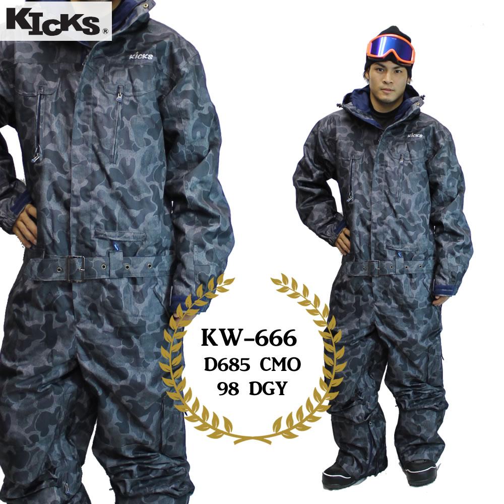 19-20 KICKS ツナギ kw-666 : D685 CMO 98 DGY 日本国内正規品/スノーボードウエア/ウェア/ワンピース/メンズ/レディース/スキー/snow/スノボ