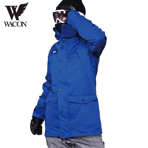 「全品5倍 4日20時~11日02時迄」18-19 WACON ジャケット BEATNIK : Blue 正規品/メンズ/ワコン/スノーボード/ウエア/ウェア/snow/スノボ
