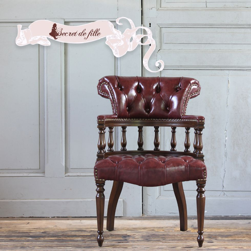 チェスターフィールド チェア 1人掛け アンティーク イギリス チェスター ビンテージ 姫系 チェアー レザー 革 皮 インテリア ロマンチック 椅子 家具 ミッドセンチュリー 英国 コンパクト アームチェア ワインレッド 合皮 PU リプロ B 60*50*90
