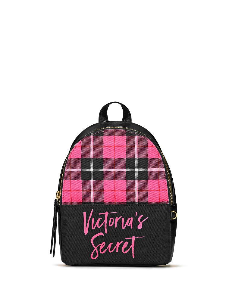 ヴィクトリアシークレットピンクチェックスモールシティバックパック/リュックPink Plaid Small City Backpack