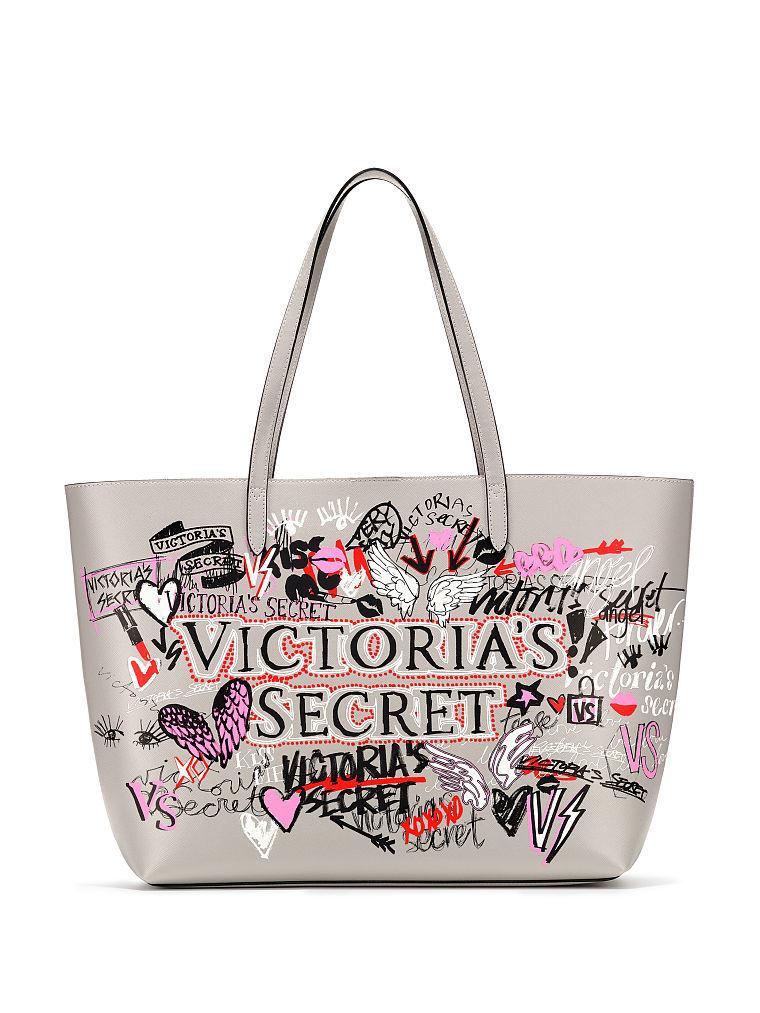 ヴィクトリアシークレット Victoria's secretグラフィティエブリシング トート バッグGraffiti Everything Tote