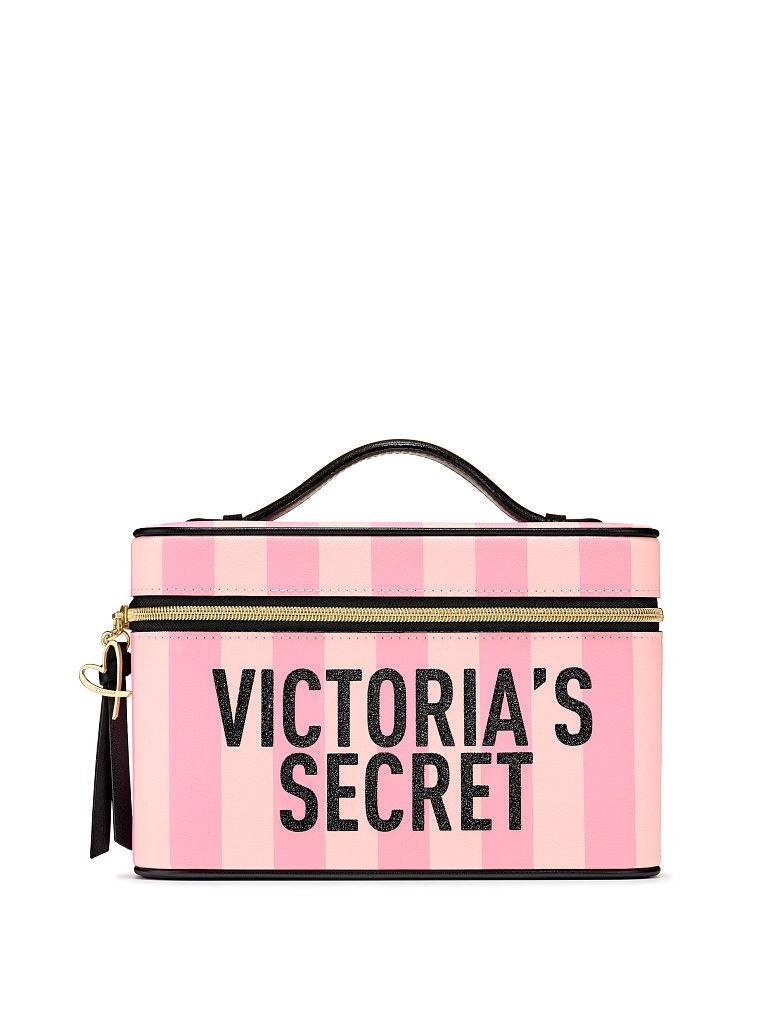 VICTORIA'S SECRETヴィクトリアシークレットビクトリアシークレットシグネチャーストライプランウェイバニティケースSignature Stripe Runway Vanity Case