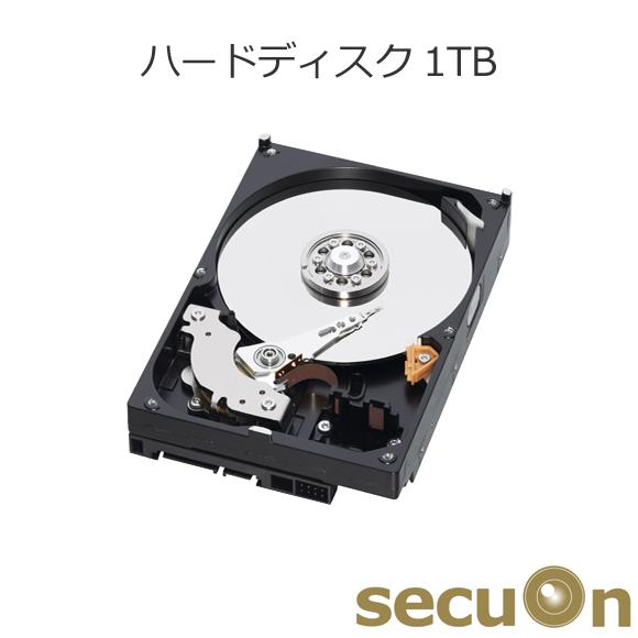 デジタルレコーダー用ハードディスク 1TB 【HDD】【1000GB】 secuOn