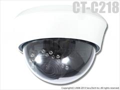 ドームカメラ CT-C218 52万画素 三軸 赤外線 ソニーEffio ドームカメラ(f=2.8~12mm)