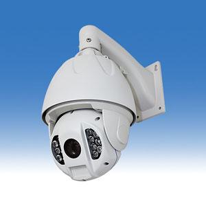 屋外設置可能 HD-SDIのドーム型カメラ 夜間監視用の赤外線LED搭載 220万画素の高画質HD-SDIカメラ 旋回機能(PTZ機能)搭載載