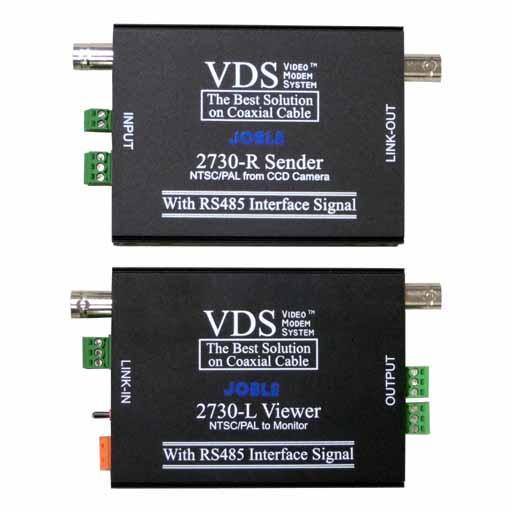 VDS2730 1映像+RS485+DC12V 電源重畳伝送機器 送料無料