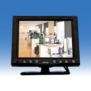 小型モニター 画面サイズ8インチ 防犯カメラモニター 送料無料 小型スクエア型液晶モニター TFT高画質LCD搭載 8インチモニター 液晶モニター 防犯モニター