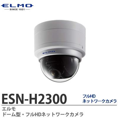 ESN-H2300 ドーム型防犯カメラ 本体SDカード記録+統合ビューワー トリプルストリーム配信 212万画素