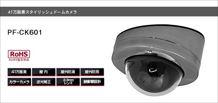 PF-CK601 ドームカメラ送料無料 日本防犯システム正規代理店防雨仕様