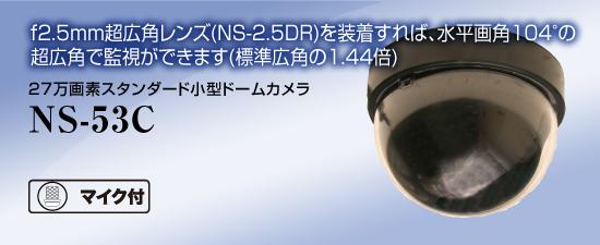 NS-53C 27万画素スタンダードドームカメラ 【NS-53C】 音声マイク内蔵 【送料無料】 NSK日本セキュリティー正規販売店 【ドーム型カメラ】