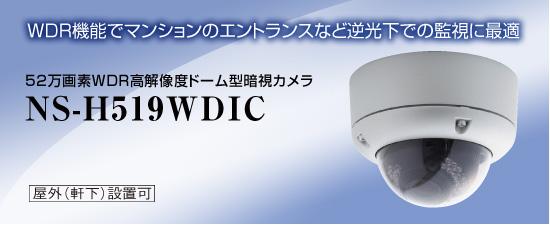 52万画素WDR高解像度ドーム型暗視カメラ NS-H519WDIC 送料無料 NSK日本セキュリティー正規販売店 ドーム型カメラ