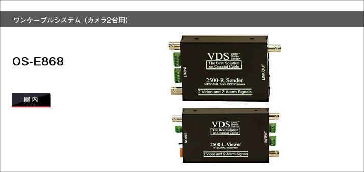 OS-E868 ワンケーブルシステム(カメラ2台用)