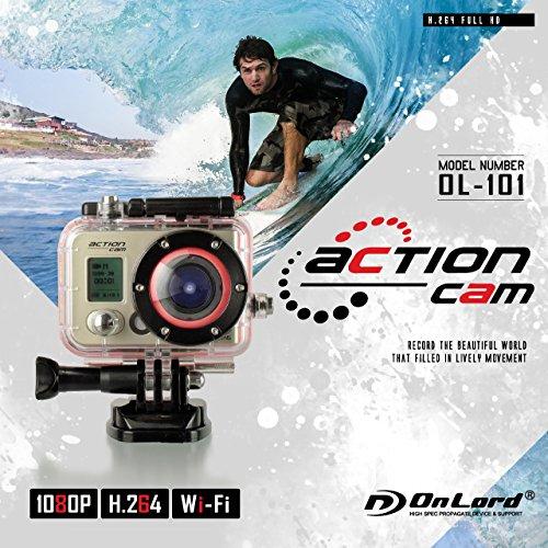 アクションカメラウェアラブルカメラ GoPro(ゴープロ)クラス (OL-101) 高画質撮影 広角170° 60m防水 WiFi機能 専用ケース&マウント付属 バッテリー×2個付