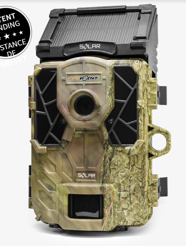 トレイルカメラ SPY-POINT SOLAR 赤外線 ワイヤレス 電池式カメラ SPY-POINT SPY-SOLAR 不可視赤外線 トレイルカメラ 高性能 長時間 スパイポイント ソーラー トレイルカメラ 電源不要 狩猟カメラ 自動撮影 野外 防水赤外線