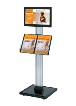 ディスプレイとメニュー立ての一体型 18.5型ディスプレイ搭載 デジタルサイネージ 【液晶看板】 【メーカー保証付】 動画看板