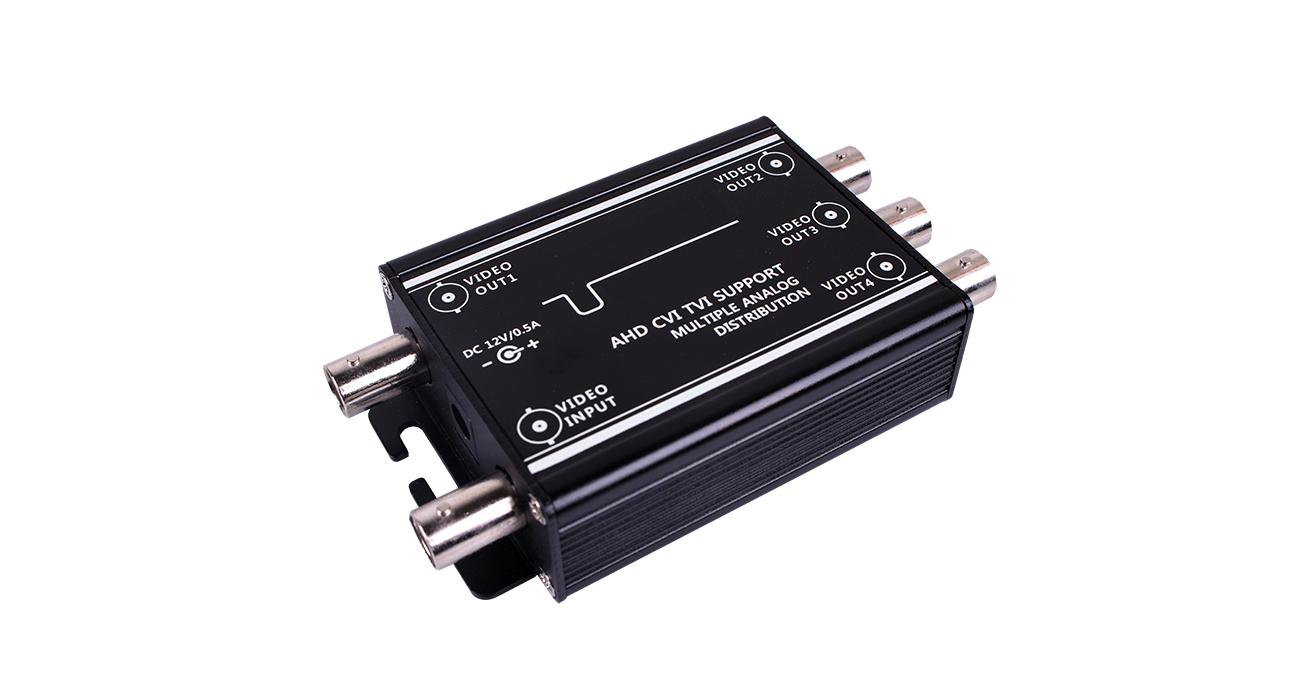 PF-EB023 AHD/CVBS対応映像4分配器 映像信号分配器 BNC in out VS-3RCAの代替え機として