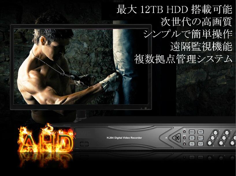 SKS-7016AHD カメラ16台接続可能 AHD 録画機 16CH録画機 ハイビジョンデジタルレコーダー AHDレコーダー 防犯カメラ録画機 防犯カメラレコーダー DV516の後継機種として最適! 最新 AHD防犯カメラ