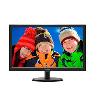 223V5LHSB/11 V-line, 21.5インチ/54.6 cm 色鮮やかな高品質 LED 映像 16:9 フル HD ディスプレイ 環境に配慮した水銀フリー Philips