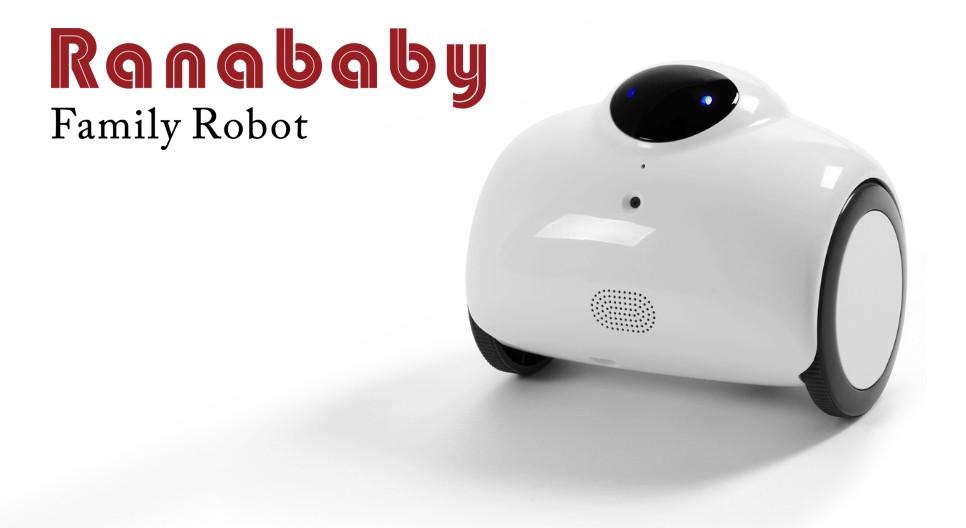 RB01-W ranababy ラナベイビー ファミリーロボット ラジコンカメラ 動き回るペットを探したり 動く監視カメラとしてもご利用可能 Ranababy RB01-W