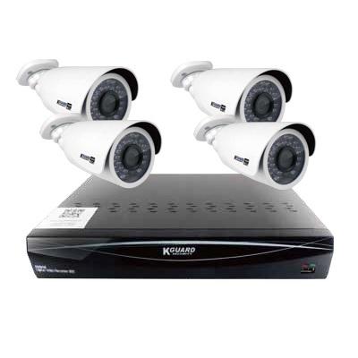 2TB内蔵 200万画素 防犯カメラセット AHD&アナログ&IPカメラに対応しています QRコード&クラウド対応 8cHDVR+カメラ4台+ケーブル等 スマホ監視 日本語説明書 K-GUARD    防犯カメラセット 監視カメラセット あす楽 送料無料 防犯カメラ
