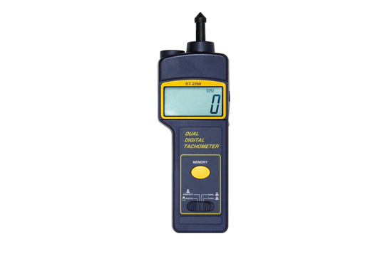 DT-2268 接触・非接触の両機能付 モーター、ファン、ギアポンプ、遠心分離機の測定に MAX/MIN・AVG表示機能 オートパワーオフ機能