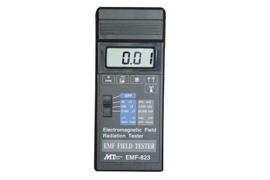 デジタル電磁界強度テスタ EMF-823 3レンジ 2000μTまで対応 家庭電化製品などの 電磁波測定に デジタル表示で簡単操作