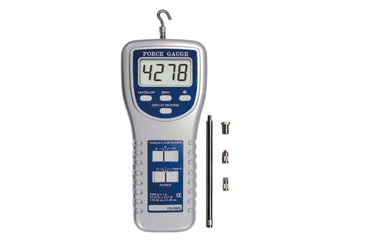 FG-5005 マザーツール正規代理店 引張、圧縮の両方向の測定 ●高精度、高分解能、再現性に優れる ●バックライト付 ●表示方向の切り替え ●測定に便利な本格的なスタンド(別売)