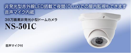NS-50IC 38万画素非発光ドームカメラ/NS-50IC