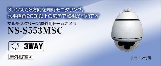 マルチスクリーン屋外用ドームカメラ NS-S553MSC 送料無料 NSK日本セキュリティー正規販売店