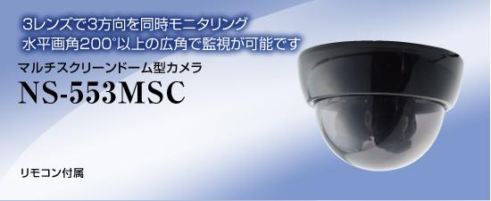 マルチスクリーン屋外用ドームカメラ NS-553MSC 送料無料 NSK日本セキュリティー正規販売店