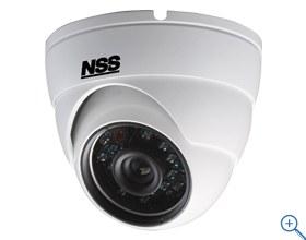 48万画素700TVライン 赤外線暗視機能を搭載 赤外線照射距離は20m デジタルWDR機能搭載 IP66規格準拠で防水/防塵 熱伝導性が良く熱がこもりにくいアルミニウム合金製 48万画素防水暗視 ドームカメラ NSC934