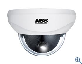 NSC-AHD930VP ワンケーブルAHDドーム型カメラ 3箇所の可動軸によるレンズ調整機構で天井と壁どちらにでも設置可能です ワンケーブル時に最大300mの長距離配線に対応します(2ケーブル時は最大500mに対応)