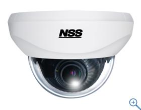 NSC-AHD931VP ワンケーブルAHDバリフォーカルドーム型カメラ f=2.8~12mm/F1.4 ワンケーブル時に最大300mの長距離配線に対応します(2ケーブル時は最大500mに対応)