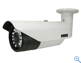 NSC-AHD941VP ワンケーブルAHD防水暗視カメラ f=3.7mm/F2.0 20m(赤外線照射距離) ワンケーブル時に最大300mの長距離配線に対応 (2ケーブル時は最大500mに対応)