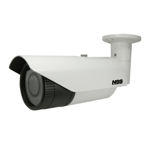 NSC-AHD942-F  フルHD  AHD防水暗視バリフォーカルカメラ 最大300mの長距離配線に対応 IP67規格準拠で防水防塵性 レンズ(f=2.8~12mm/F1.4) 撮影範囲 水平102.0°×垂直76.8°~水平30.0°×垂直22.0° 赤外線照射距離・最大40m