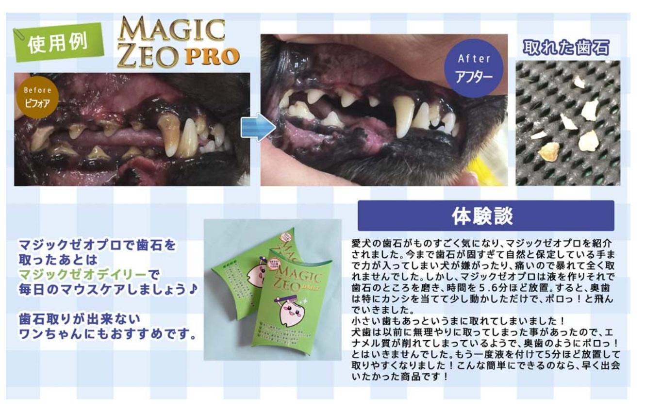 【ポイント10倍】マジックゼオプロ【犬用歯石取り歯磨き】ZA-MZPマジックゼオ(PRO)