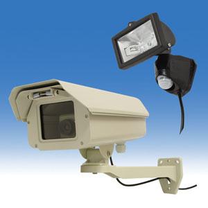 防犯カメラ 監視カメラ 新製品 大幅値下げ 本物外観 大迫力!ダミーカメラ&センサーライトセット お得セット 防犯カメラ 監視カメラ ネットワークカメラ IPカメラ 留守番カメラ ペットカメラ