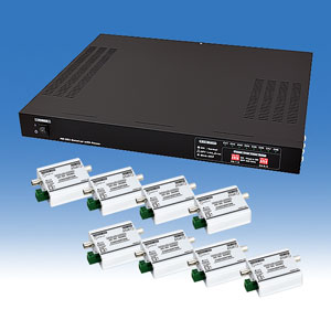 8CH用ワンケーブル送受信ユニットセット! WTW-8HC08 HD-SDIカメラ用ワンケーブルユニット 同軸1本で映像と電源を伝送 メーカー希望小売価格 280,000円