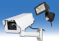 ダミーカメラとハロゲンセンサーライト